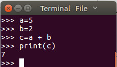 Micropython REPL example of simple math