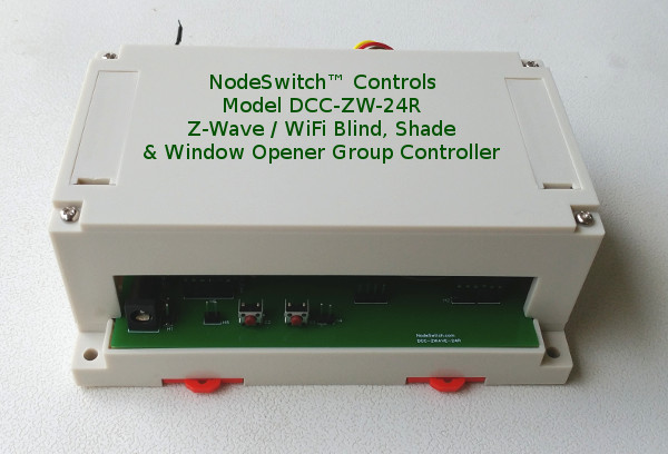 WiFi and Z-Wave group controller for blinds, shades and window openers