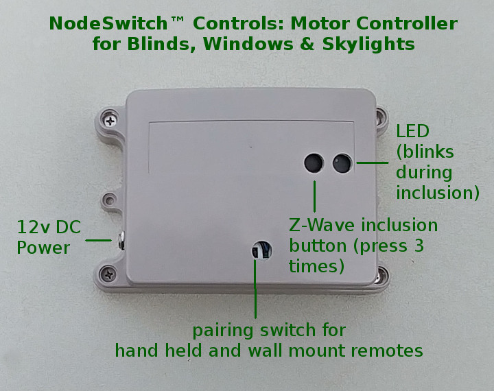 Z-Wave group controller for blinds and window/skylight openers